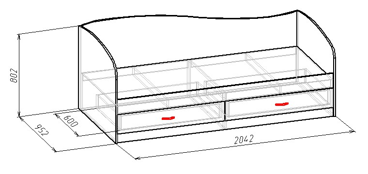 Кровать с выдвижными ящиками своими руками чертежи